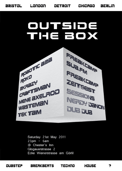 21.05.2011 - Outside The Box @ Chester's Inn Berlin - Robotic b2b Roko, 2krazy, Wasteman, Craftsman, Mene Axelrod